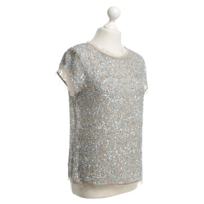 All Saints Sequin shirt in grey / blue