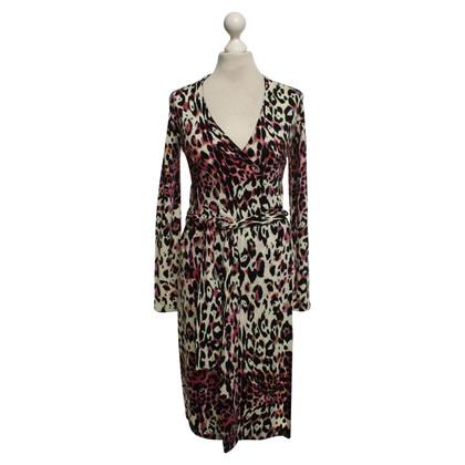 Diane von Furstenberg Gebreide jurk met luipaard patroon