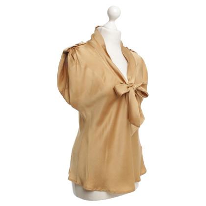 Escada Silk blouse in gold