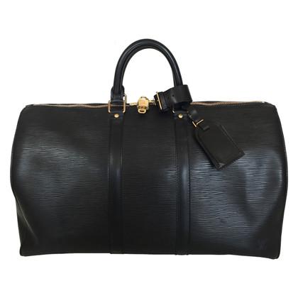 Louis Vuitton Keepall 45 Epi Leather Black