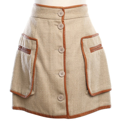 By Malene Birger skirt with leather surround