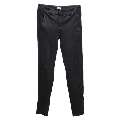 Brunello Cucinelli trousers with leather in black