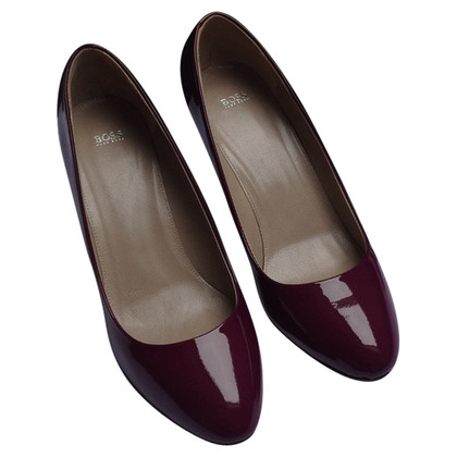 Hugo Boss pumps en cuir verni, Medium Violet