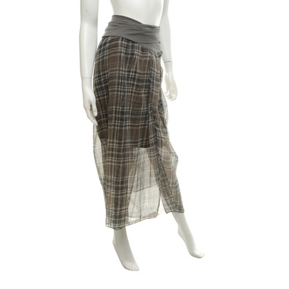 Brunello Cucinelli skirt with checked pattern
