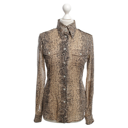 Dolce & Gabbana Shirt blouse with animal print