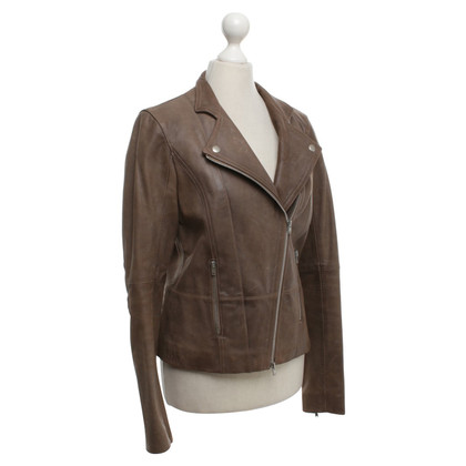 Chloé biker jacket in brown