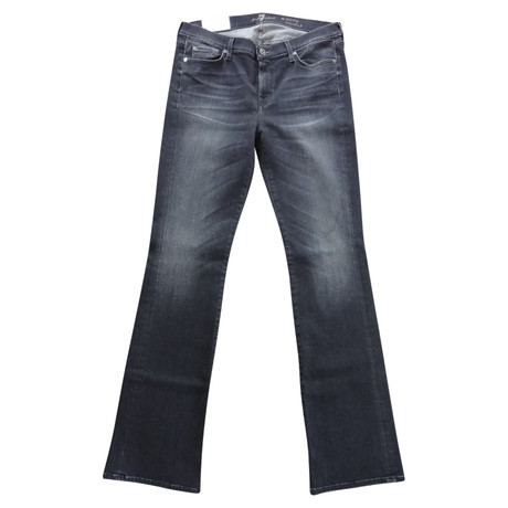 7 For All Mankind Bootcut Jeans Grau