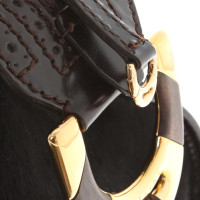 Céline Handbag with pony fur trim