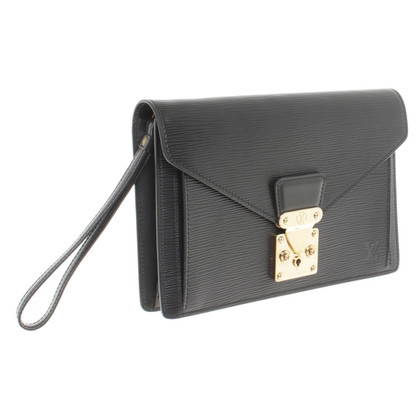 "Louis Vuitton ""Sellier Dragonne clutch EPI leather"" in black"