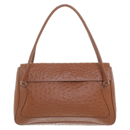 Les Copains Handbag in ostrich leather look