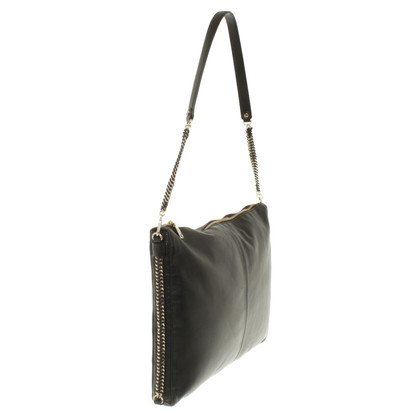 Maje Leather Handbag in Black