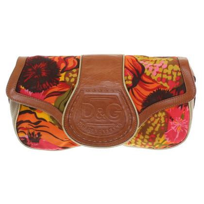 Dolce & Gabbana Handtasche mit Materialmix