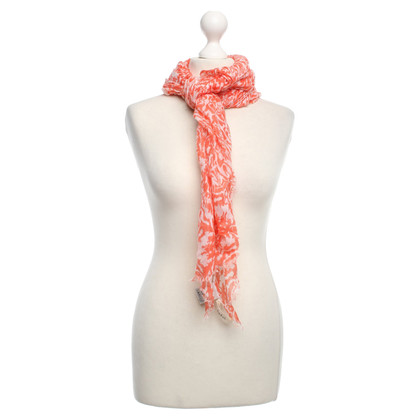 Bash Patterned Scarf in oranje / wit