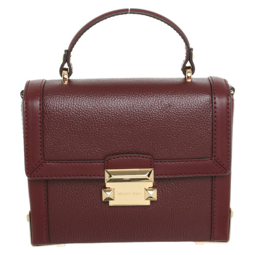 96f033bd41f0f Michael Kors Jayne SM Trunk Bag Oxblood - Second Hand Michael Kors ...