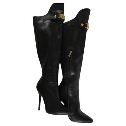 Versace Leder-Stiefel