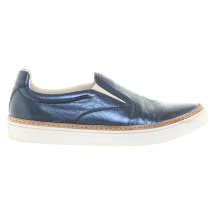 Maison Martin Margiela Metallic-Sneakers in Blau
