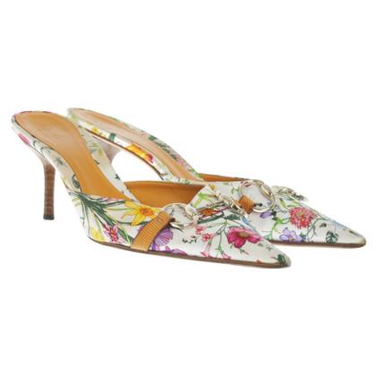 Gucci Pumps mit floralem Muster