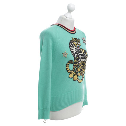 Gucci Knitted pullover in light green