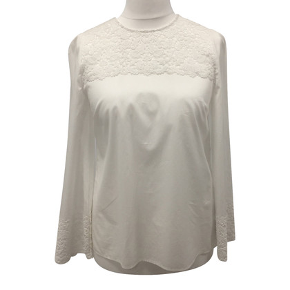 Dolce & Gabbana White lace cotton top