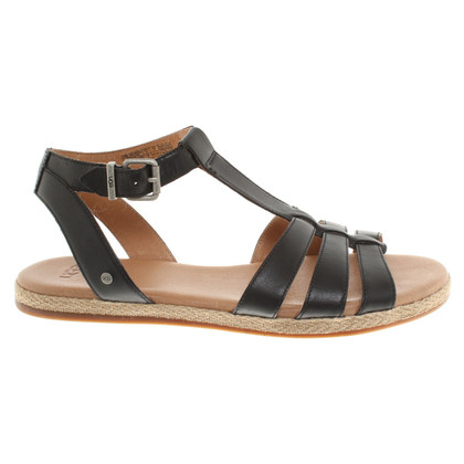 Ugg Leather sandals in black