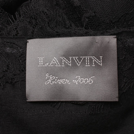 Schwarz Schwarz Spitzenkleid Lanvin in Spitzenkleid Lanvin wUnX7UF