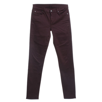 7 For All Mankind Skinny jeans in Bordeaux