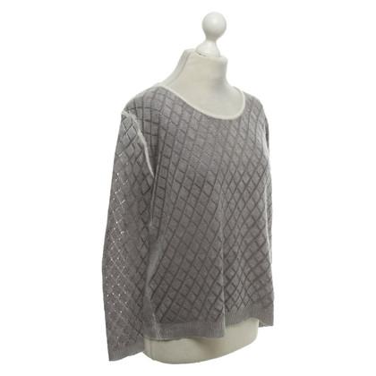 Dear Cashmere Cashmere sweater in grey / cream