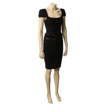 Herve Leger Kleid mit Verzierungen