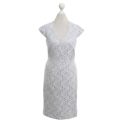 Reiss Gray dress with white lace