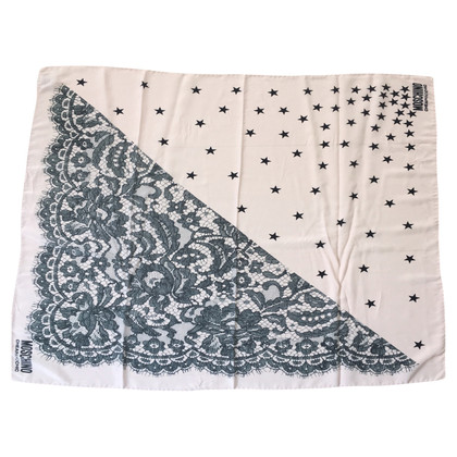 Moschino Cheap and Chic Silk scarf with lace print