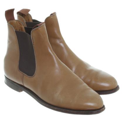 John Lobb Chelsea Boots in Hellbraun