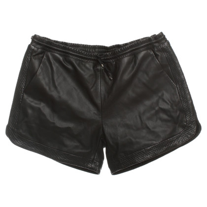 Karl Lagerfeld Leather shorts in black