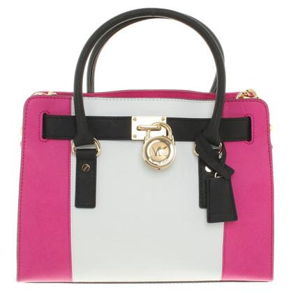 "Michael Kors ""Hamilton Bag"" in rosa / bianco"