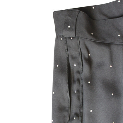 Gianni Versace Pantaloni vintage neri con strass