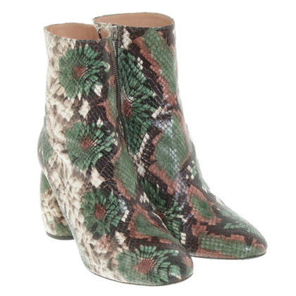 Dries van Noten Ankle boots in green / beige