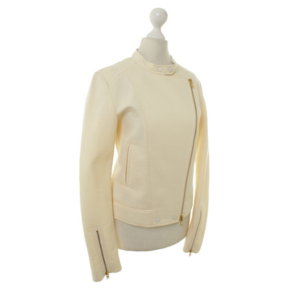 Closed Bikerjacke in crema