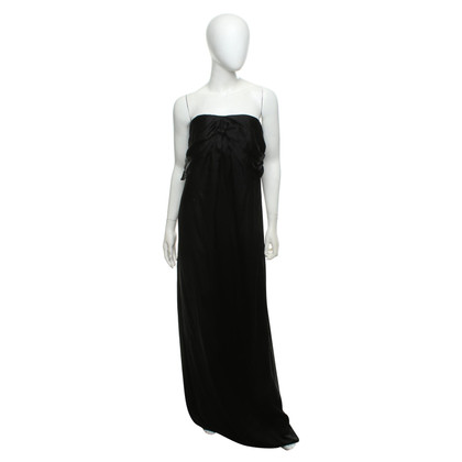 Halston Heritage Silk dress in black
