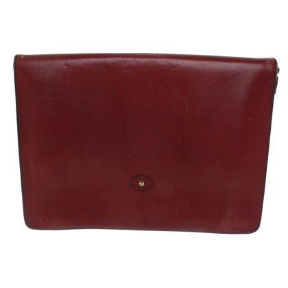 Aigner Bordeaux-colored leather briefcase