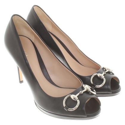 Gucci Peep-dita dei piedi in nero