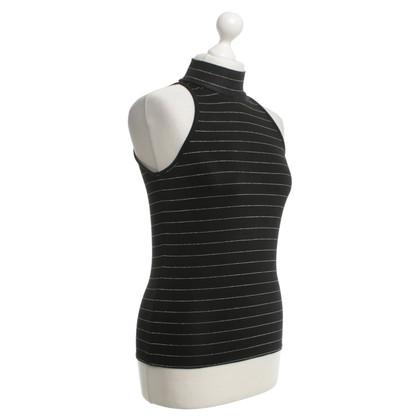 Versace top in black / silver
