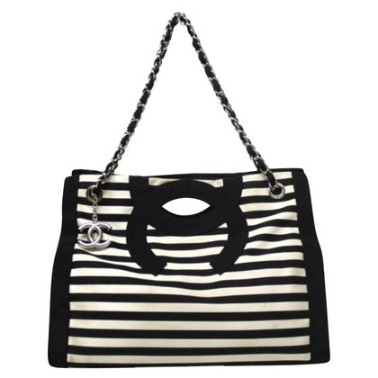 "Chanel ""Cruise Stripes Shopper"""