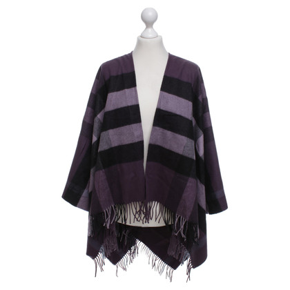 Burberry Poncho with check pattern