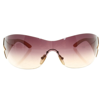 Prada Sportieve Zonnebril in Beige / Violet