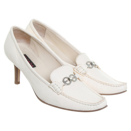 Escada Cream leather pumps