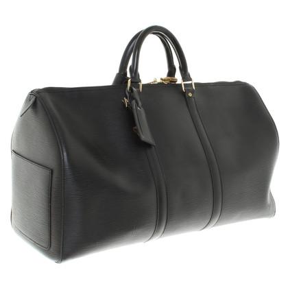 "Louis Vuitton ""Keepall 50 Epi Leder"" in Schwarz"