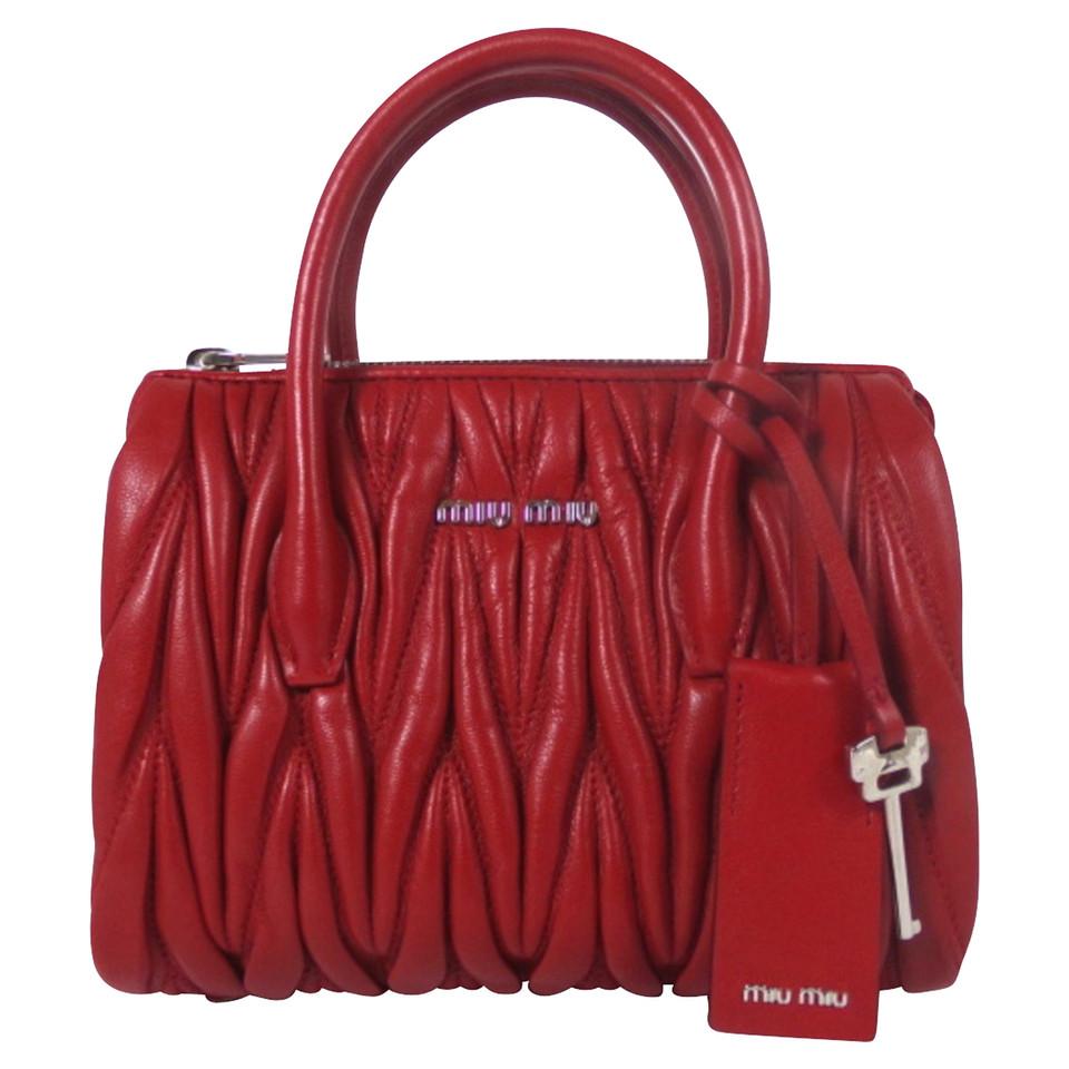 Miu Handbag In Matelassé Look