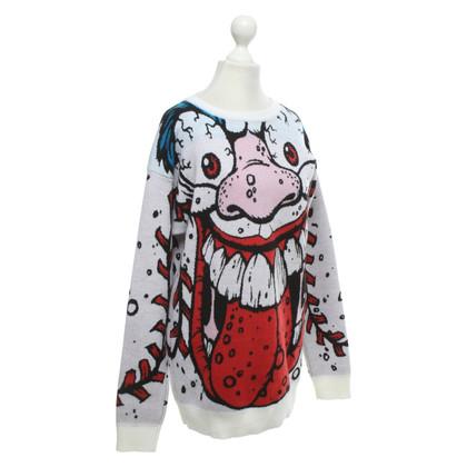Jeremy Scott Oversized sweater with pattern