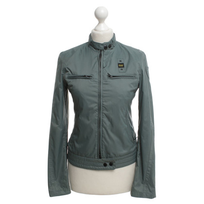 Blauer USA Petrol-colored jacket in biker style
