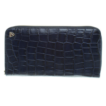Aspinal of London Wallet in blue