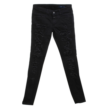 Closed Jeans distrutti in Black